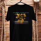 YES Celebrating 50th Anniversary Tour 2018 Black Tee's Front Side by Complexart z3