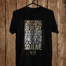 Stonesour Lyric Black Tee's Front Side by Complexart z1