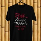 Pink Beautiful Trauma Tour 2018 Black Tee's Front Side by Complexart z1