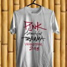 Pink Beautiful Trauma Tour 2018 White Tee's Front Side by Complexart z2