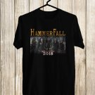 Hammerfall Rebuilt To Tour 2018 Black Tee's Front Side by Complexart z4