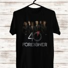Foreigner 40th Anniversary Black Tee's Front Side by Complexart z2