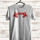 Alabama Band Logo White Tee's Front Side by Complexart z1