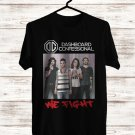 Dashboard Confessional We Fight Tour 2018 Black Tee's Front Side by Complexart z2