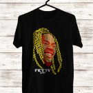 Fetty Wap Face Black Tee's Front Side by Complexart z2