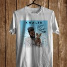 Khalid Roxy Tour 2018 White Tee's Front Side by Complexart z1