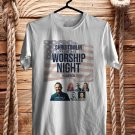 Chris Tomlin Worship Night In America Tour 2018 White Tee's Front Side by Complexart z1