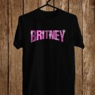 Britney Spears logo Black Tee's Front Side by Complexart z1