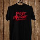 Post Malone Logo Black Tee's Front Side by Complexart z1