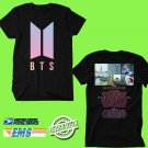 BANGTAN BOYS BTS LOVE YOURSELF WORLD TOUR 2018 Black Tee's Two Side by Complexart z1