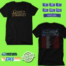 Game Of Thrones Live Concert Experience Tour 2018 Black Tee's Two Side by Complexart z2