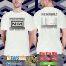 Nine Inch Nails Cold&Black&Infinite N.American Tour 2018 White Tee's Two Side by Complexart z1