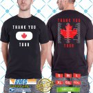 The thank You Canada Tour 2018 Black Tee's Two Side by Complexart z1