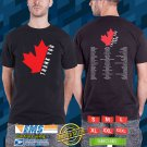 The thank You Canada Tour 2018 Black Tee's Two Side by Complexart z2