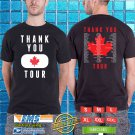 The thank You Canada Tour 2018 Black Tee's Two Side by Complexart z3