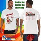 Jewel Handmade Holiday Tour 2018 White Tee's Two Side by Complexart z2