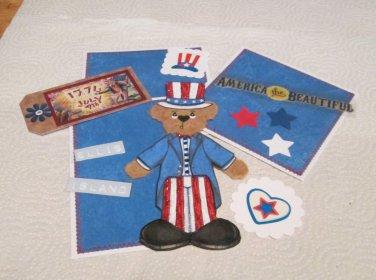 America The Beautifu Tear Bear a- Mat Set