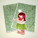 Hula Girl b - MME - Mat Set