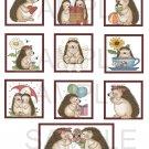 Hedgehogs Set 1 - 10 piece set