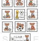 I Love Soccer - 10 piece set