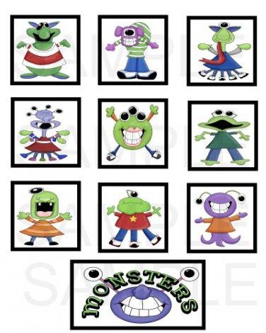 Monsters - 10 piece set