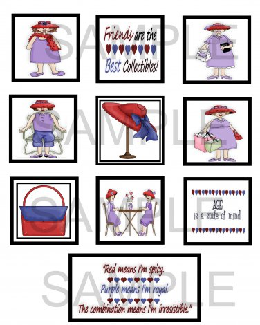 Red Hatters 2 - 10 piece set