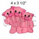 3 Little Piggies - Printed Paper Piece