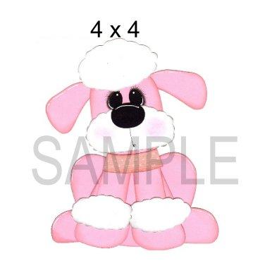 Dog 3 tb - Printed Paper Piece