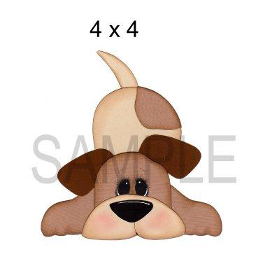 Dog 4 tb - Printed Paper Piece