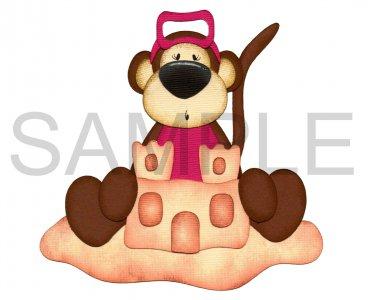 Monkey 3 - Printed Paper Piece