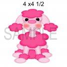 Pink Poodle 2 - Printed Paper Piece