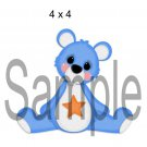 Rainbow Bear Blue right - Printed Paper Piece