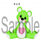 Rainbow Bear Green right - Printed Paper Piece