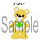 Rainbow Bear Yellow right - Printed Paper Piece