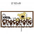 100% Chocoholic Title -  Printed Paper Piece