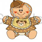 Gingerbread Baby Boy -  Printed Paper Piece