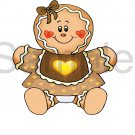 Gingerbread Baby Girl -  Printed Paper Piece