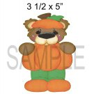 Pumpkin Bear c -  Printed Paper Piece
