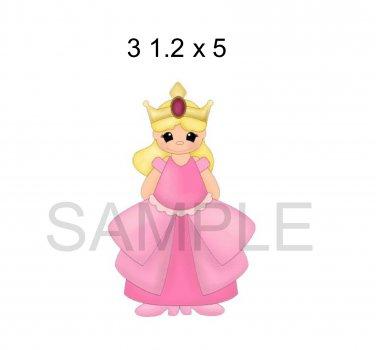 Princess Pink -  Printed Paper Piece