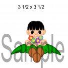Hawai Boy Peeker -  Printed Paper Piece