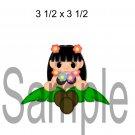 Hawai Girl Peeker -  Printed Paper Piece