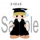 Graduation Boy right -  Printed Paper Piece