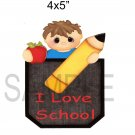 I Love School Boy -  Printed Paper Piece