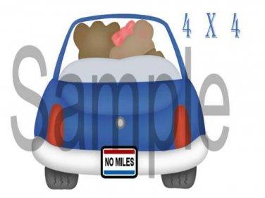 Love Car -  Printed Paper Piece