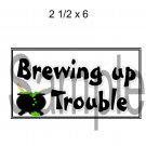 Brewing Up Trouble Title 1 -  Printed Paper Piece