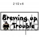 Brewing Up Trouble Title 2 -  Printed Paper Piece