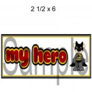 My Hero Title Batman -  Printed Paper Piece