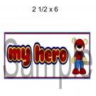 My Hero Title Spiderman -  Printed Paper Piece