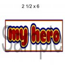 My Hero Title -  Printed Paper Piece