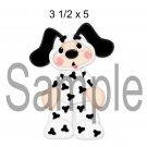Puppy Costume left -  Printed Paper Piece